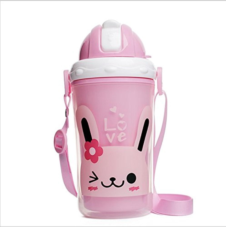 バンダイ幼児ダブルカップ/ベビーラーニングカップ/チャイルドストローカップ ( 色 : ピンク )