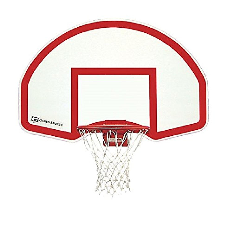 バスケットボール目標とNetと背面マウントファン形状のスチールBackboard by Gared、35 in x 54 in
