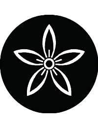 家紋シール 陰細桔梗紋 布タイプ 直径40mm 6枚セット NS4-0166