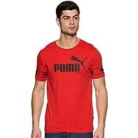 Puma Men'S Amplified Big Logo Tee, Peacoat