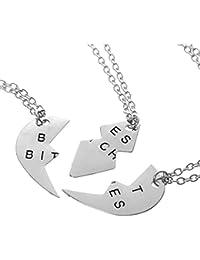 【ノーブランド品】銀色 ファッション 組み合わせるハート ペンダント ネックレス 最高の贈り物
