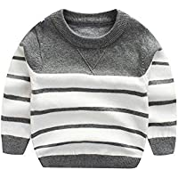 WeddingPach Kids Boys Knitting Sweater Baby Cotton Stripe Cardigan 1-5T
