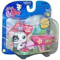 Littlest Pet Shop (リトルペットショップ) Exclusive Single Pack Black and White Pig [Apples & Wheelbarrow](並行輸入)