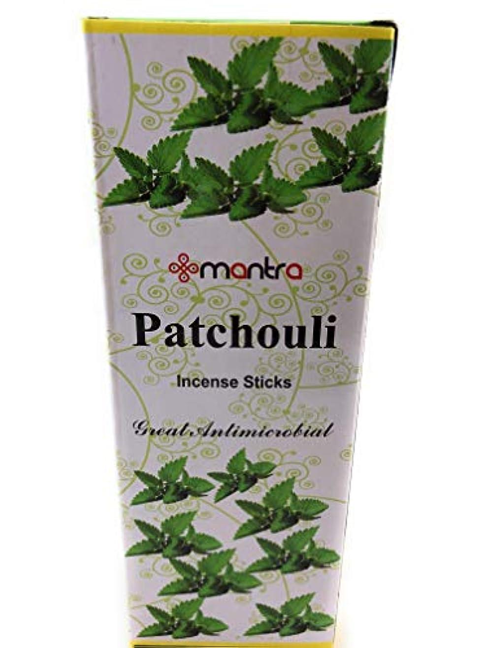 租界乳剤気味の悪いMantraプレミアムPatchouli Incense Sticksギフトパック6ボックスX 20スティック、合計120 Sticks