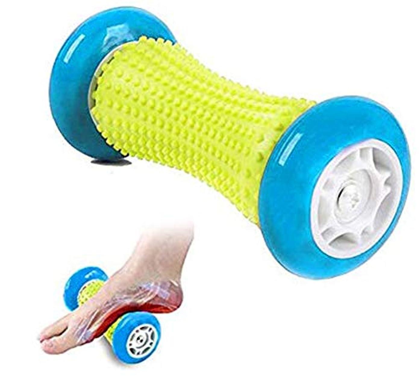 ユーモア北東鼓舞するフットマッサージローラースパイキーボールは足底筋膜炎ヒールスパーズ足のアーチの痛みディープ?ティッシュ?指圧リフレクソロジーを和らげるマッサージ痛み筋ノットをリラックス (Color : ライトブルー)