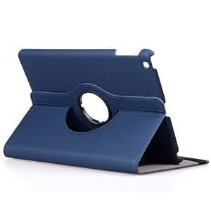 i-Beans(TM)iPad Air用PUレザーケース アップル アイパッド エア ケース 衝撃防止カバー 360度回転 カード入れ+オートスリープ機能付 ダークブルー PU Leather Case for iPad Air 【全10色】(3699-10)