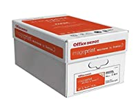 Office Depot imageprint FSC認定Multiuse用紙by Domtar、81/ 2in X 11、20ポンド、ホワイト、500枚、リーム、10ケースReamsあたり1821