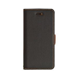 ラスタバナナ iPhone8/7/6s/6 ケース/カバー 手帳型 +COLOR 衝撃吸収 薄型 サイドマグネット BK×DBR アイフォン スマホケース 3434IP7SA