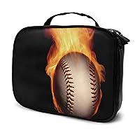 ハンドバッグ トラベルポーチ 化粧ポーチ 収納ボックス メイクポーチ メイクボックス かっこいい野球 多機能 大容量 旅行用 出張用