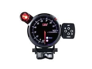 オートゲージ(AUTOGAUGE) PK80タコメーター ブラックフェイス3色LED ワーニング/ピークホールド機能付 80パイ AGTASMSWL270-80PK