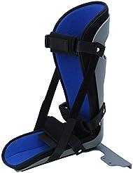 足首の添え木、足底筋膜炎の痛みからの効果的な救済のための夜間添え足首のサポート、そして捻挫した足首の睡眠の防止、滑り止め、通気性のある生地、Easとの快適なフィット感(L)