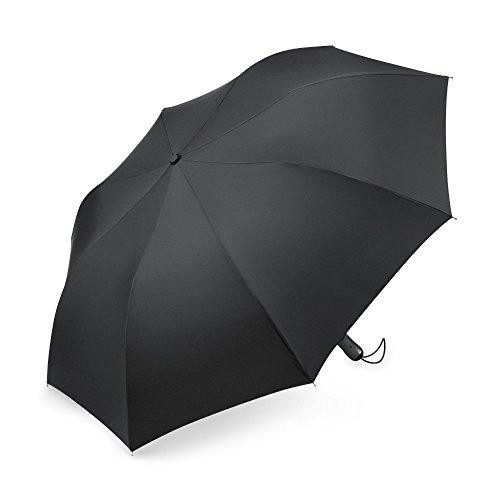 PLEMO 傘 折り畳み傘 梅雨対策 ワンタッチボタン式 自動開く 紳士傘 2段式 耐強風 丈夫 超撥水性 シンプルブラック (112センチ) UA_28