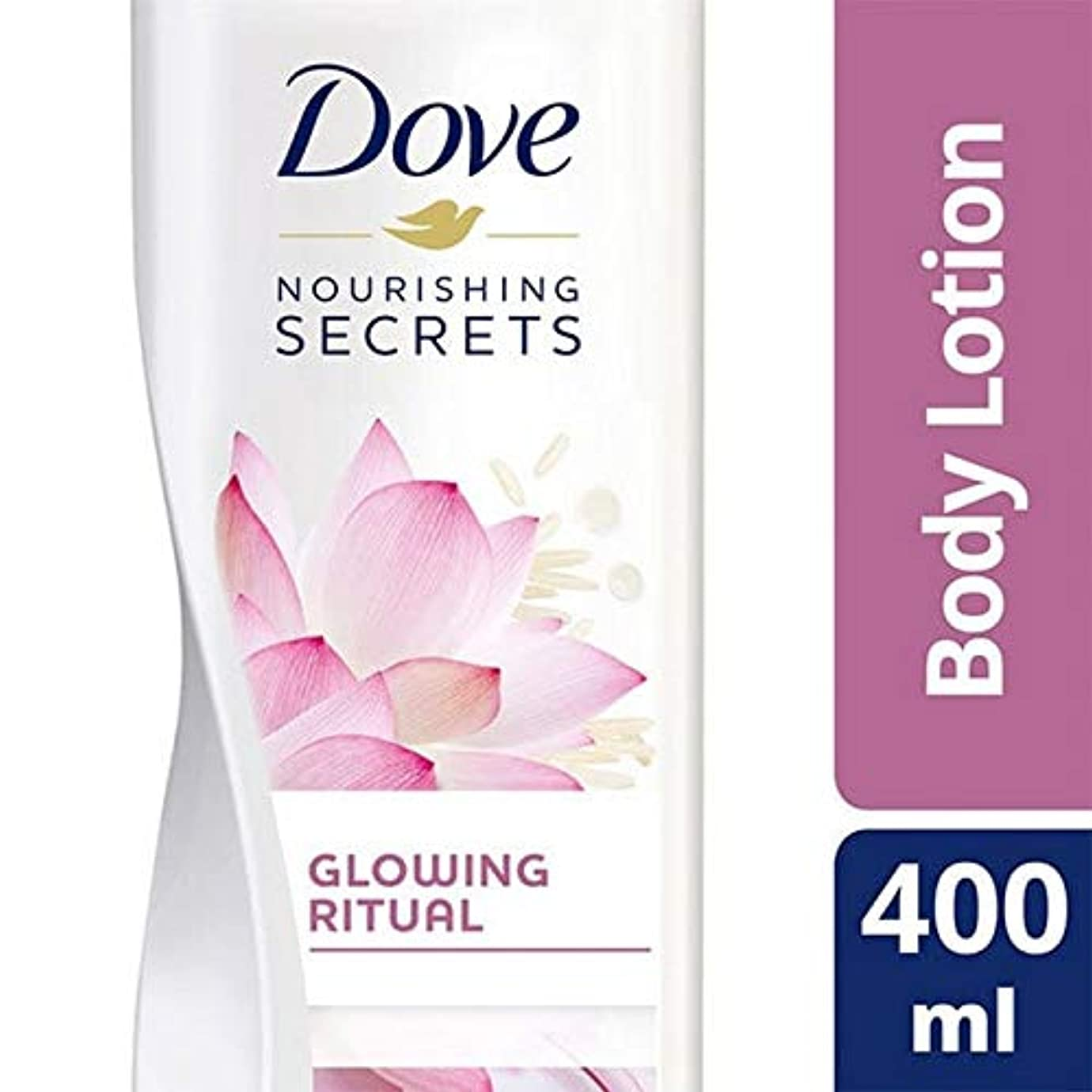 スリル歴史部門[Dove ] 鳩ピンクの蓮のボディローション400ミリリットル - Dove Pink Lotus Body Lotion 400ml [並行輸入品]