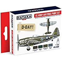 Hataka趣味hhtk-as04 WWII US Army Air Force d-dayアクリルペイントセット4色17 ml BottlesモデルキットプラスチックFigures Toy Soldiers