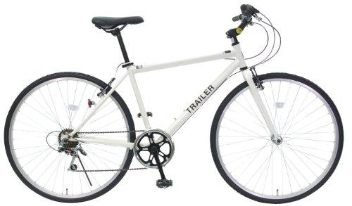 TRAILER(トレイラー) 700Cクロスバイク6段変速 adjustable stem BGC-C70-WH (ホワイト)