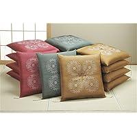 フクレ織り 厚地 座布団 撥水防汚加工 同色5枚組 金茶