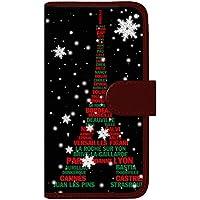 CaseMarket 手帳型 ケース レザー 厚手タイプ docomo AQUOS PHONE EX (SH-02F) エッフェル塔 コレクション パリス スノー クリスマス 2629 クリスマス