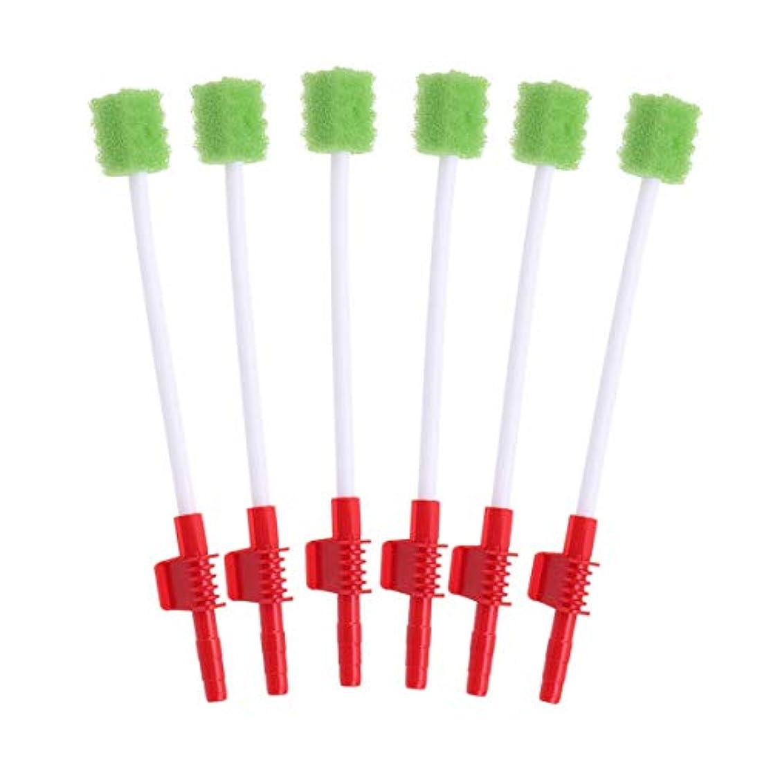 合理的確率罪人Healifty 使い捨ての口腔ケア綿棒吸引口腔スワブスポンジ歯ブラシ10個