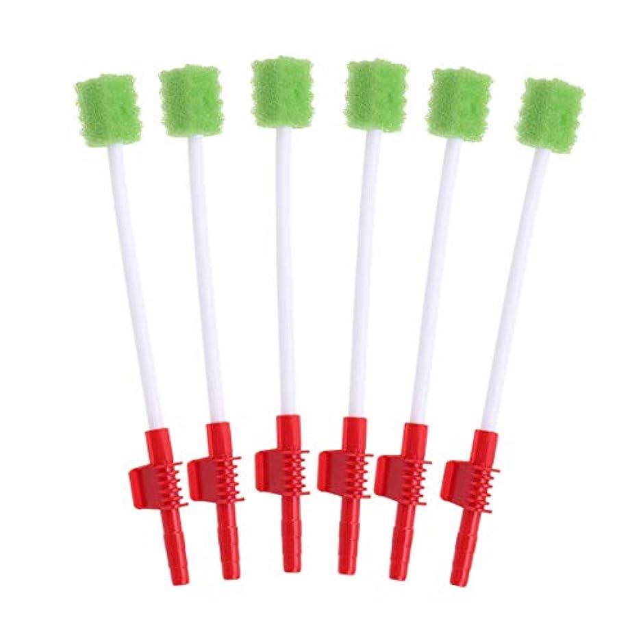 ポールのみ低いHealifty 使い捨ての口腔ケア綿棒吸引口腔スワブスポンジ歯ブラシ10個