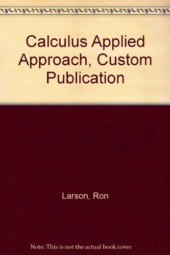 Download Calculus Applied Approach, Custom Publication 0618494480