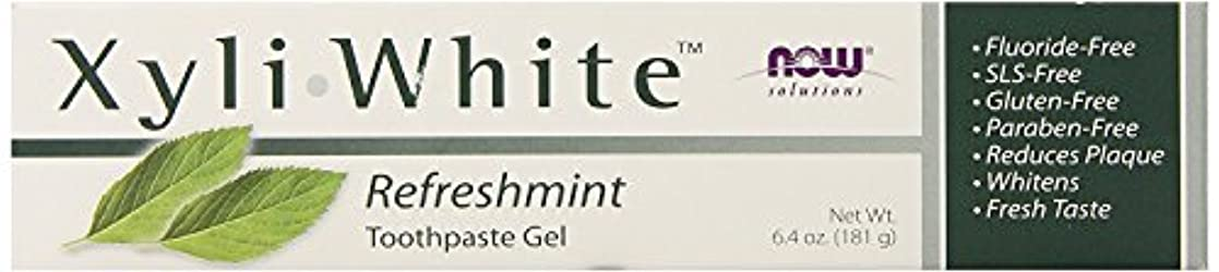 介入する香ばしい儀式Now Foods ナウフーズ キシリホワイト フッ素不使用歯磨きジェル (リフレッシュミント) 181g [並行輸入品]