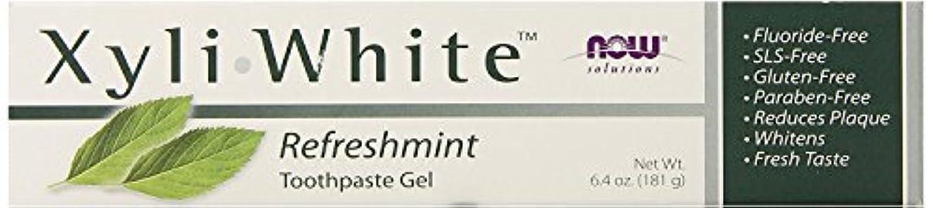 練るマンモスギャザーNow Foods ナウフーズ キシリホワイト フッ素不使用歯磨きジェル (リフレッシュミント) 181g [並行輸入品]