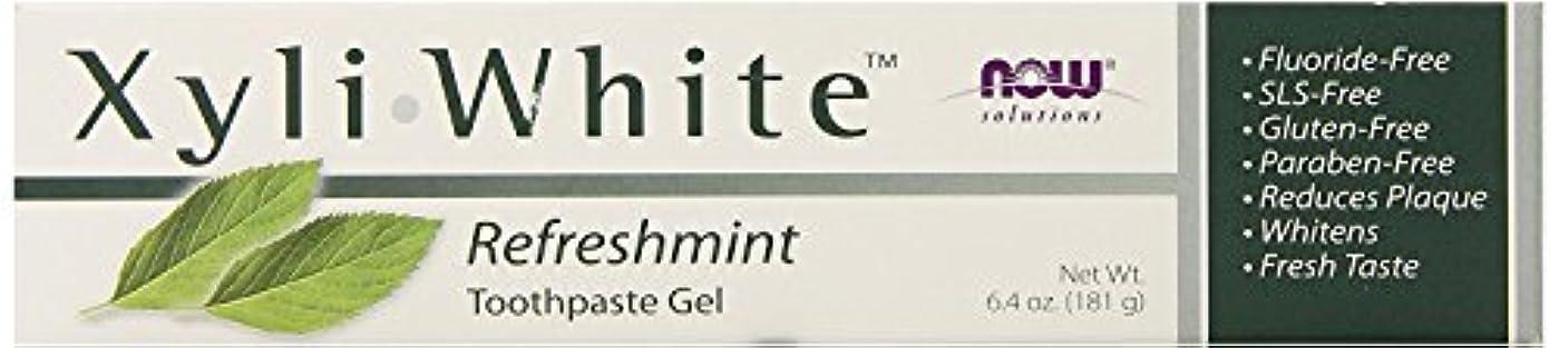 励起適応的剃るNow Foods ナウフーズ キシリホワイト フッ素不使用歯磨きジェル (リフレッシュミント) 181g [並行輸入品]