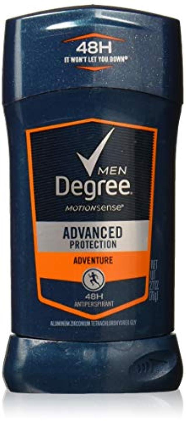 きらめく気怠い統合するDegree Men Adrenaline Series Adventure Invisible Stick Deodorant 2.7 oz by Degree