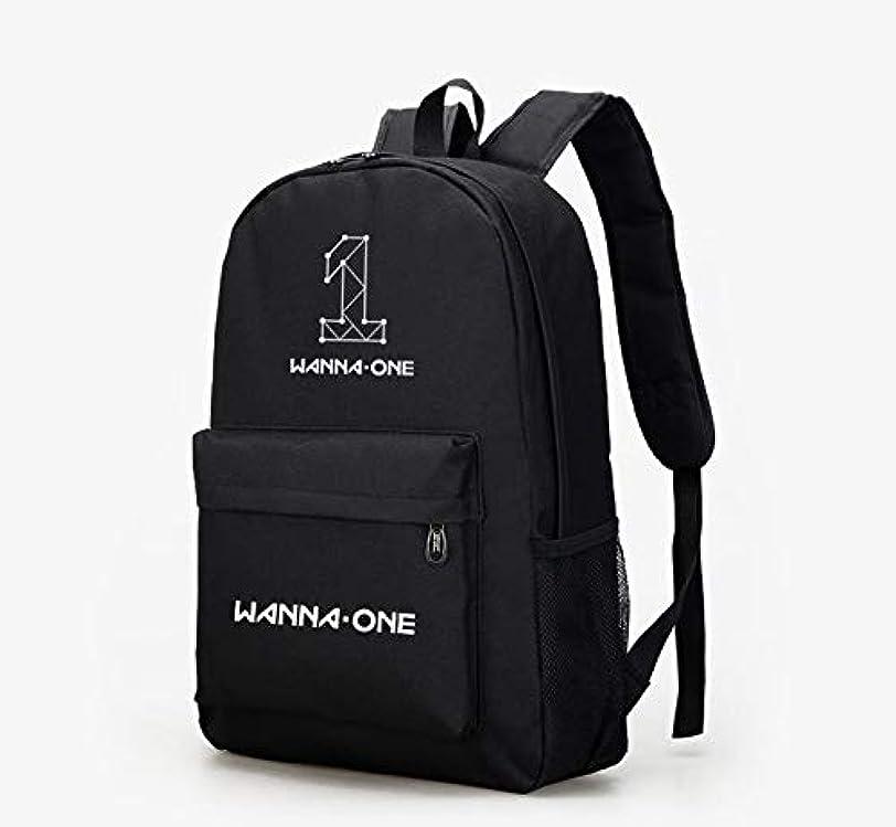 ラブ教室咳Wannaone 101 大容量鞄 バックバッグ リュック Backpack 韓流グッズ KPOP ログ付け ブラック ピンク