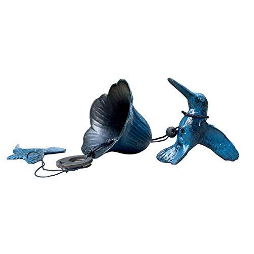 Hwagui 風鈴 南部鉄器 鋳鉄 ブルー 夏の風物詩 記念日 誕生日 飾り物 涼しい 夏 (ハチドリ)