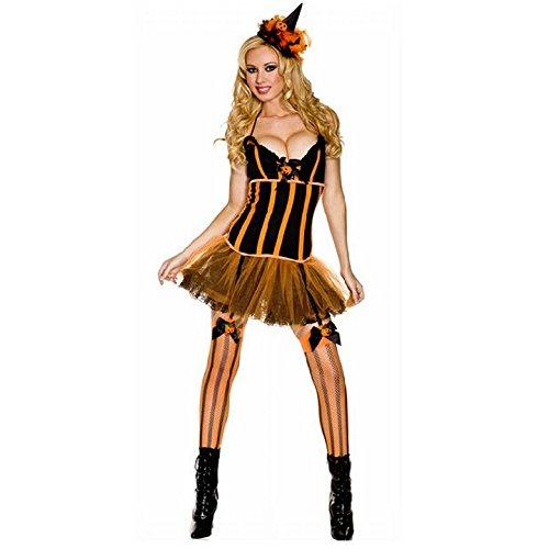 (ミュージックレッグス) MUSIC LEGS 70266 Pumpkin Patch Costume パンプキンウィッチ ハロウィンコスチューム (SM)