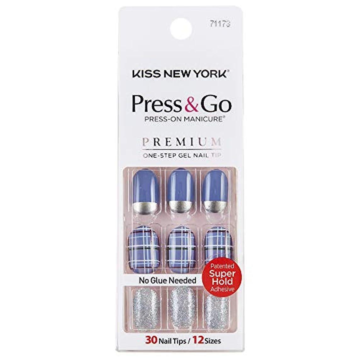 完璧留め金明るいキスニューヨーク (KISS NEW YORK) KISS NEWYORK ネイルチップPress&Go BHJ22J 19g