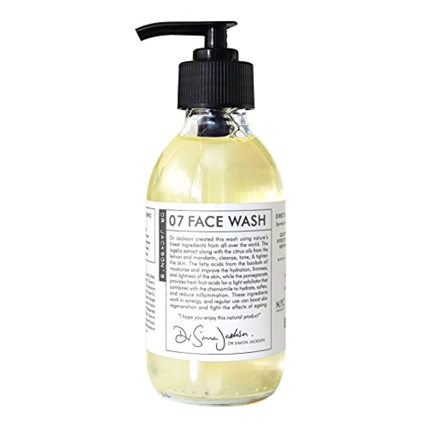 スタンドオーロックスピーチDr Jackson's 07 Face Wash 200ml (Pack of 6) - ジャクソンの07洗顔ジェル200 x6 [並行輸入品]
