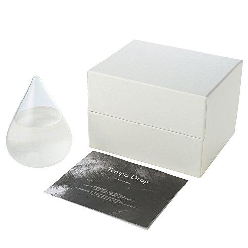 Perrocaliente 正規品 Tempo drop mini テンポドロップ ミニ ストームグラス 樟脳 の 結晶 が おしゃれ な しずく型 の インテリア 天候予測器 TD-02 マイクロファイバークロスセット