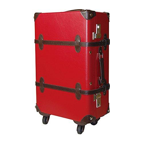 WORLD TRUNK スーツケース トランクキャリー Mサイズ 超軽量 ダイヤルロック 35L ts-7102-53 (レッド/ブラウン)