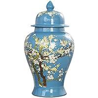 XIAOYAN 中国景徳鎮陶磁飾り収納瓶カバー淡い青家のオフィスで利用可能な様々なサイズのリビングルームの装飾プレゼント (サイズ さいず : 大 だい)