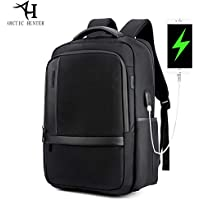 Arctic Hunter Anti-Theft Laptop Backpack,Business Computer Bag with USB Charging Port,Travel Backpack for Women & Men Fits 15.6 Inch Laptop/Notebook(Grey)