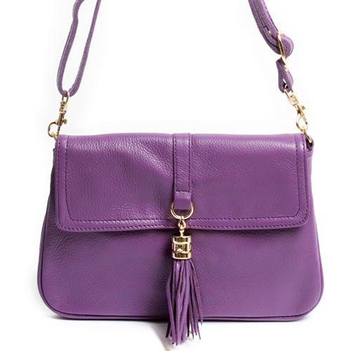 【本革 フラップ付 ポシェット】 体にぴったりと沿う、すっきりとした薄マチでバッグも(TAN)