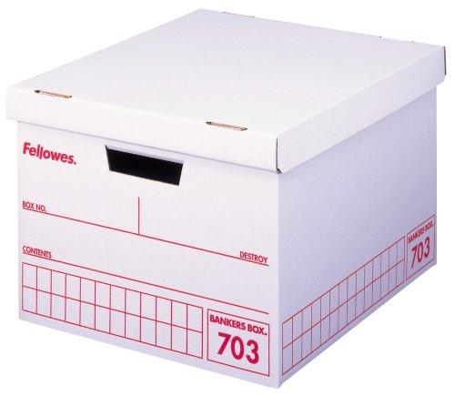 フェローズ 703バンカーズBox A4ファイル用 赤 3枚パック 内箱 5段積重ね可能 対荷重30kg
