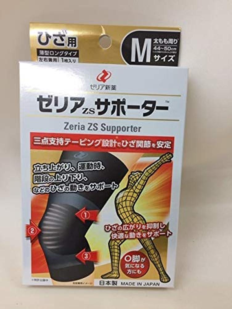 グリーンランド名前あいまいゼリアzsサポーター Mサイズ 日本製 1枚入り 薄型ロングタイプ 左右兼用