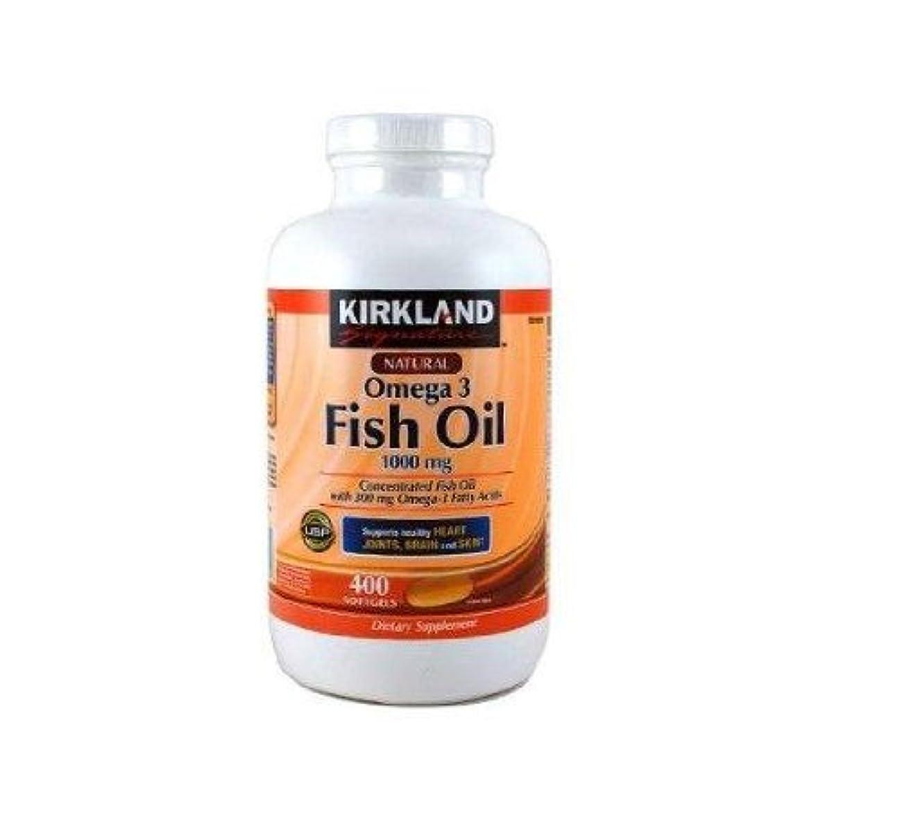 あご拳名義でKIRKLAND社 フィッシュオイル (DHA+EPA) オメガ3 1000mg 400ソフトカプセル 2本 [並行輸入品] [海外直送品] Two KIRKLAND's Fish oil (DHA + EPA) omega...