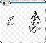 iPhone/Xperia/Galaxy/他機種選択可:サッカー/グラフィティ/へのへのもへじタッチ手帳ケース(デザイン:マドリッド/10番_01) 02 iPhone5c