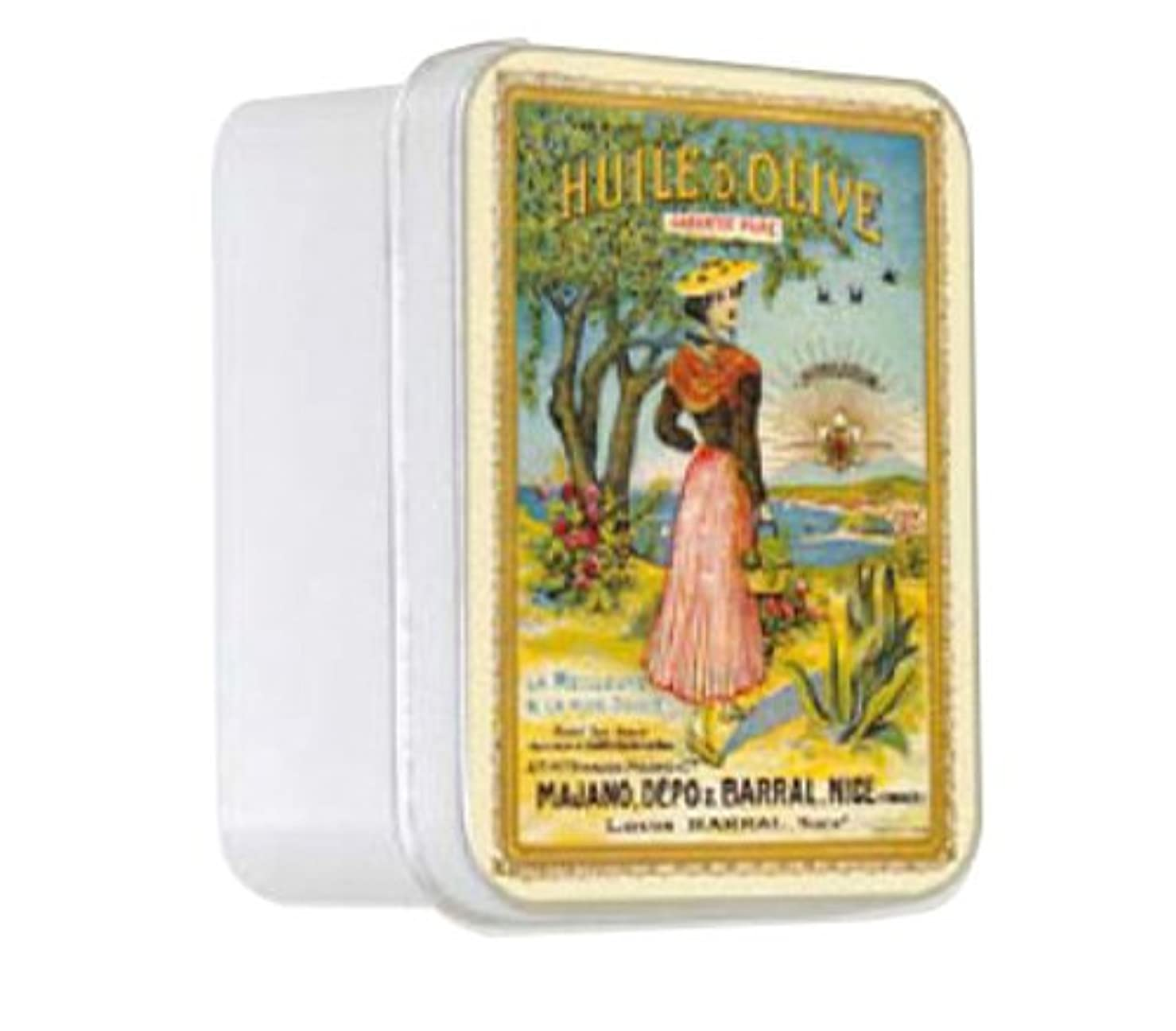 リーク芸術的グリーンランドルブランソープ メタルボックス(ラ ニソワーズ?オリーブの香り)石鹸