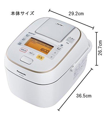 パナソニック1升炊飯器圧力IH式Wおどり炊きスノークリスタルホワイトSR-PW186-W