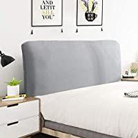 Cylficl家具カバー ピュアファッションソフトホームデコレーションダストカバー、バックストレッチファブリックベッドカバーベッドオールインクルーシブ (Color : Light gray, Size : 150-170cm)