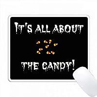 キャンディーの写真に関する黒い白い文字の全部について PC Mouse Pad パソコン マウスパッド