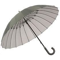 24本骨傘 高強度グラスファイバー仕様 【雨宿】 (あまやどり) 直径約105cm グリーン 22816