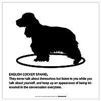 ENGLISH COCKER SPANIEL'S POEMマグネットサイン:イングリッシュコッカースパニエル(ホワイト/Lサイズ) アメリカの詩 英語 愛犬家 優しさ防犯 マグネットステッカー