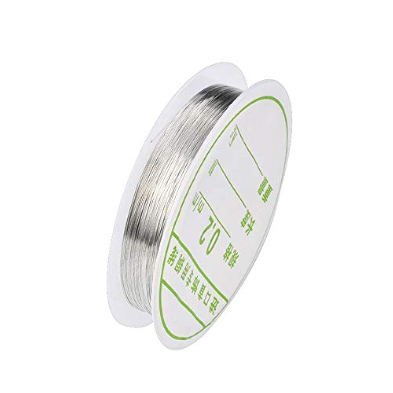 シールシュリンクアコー1個ワイヤーネイルアートデコレーションチャームラインDIYデザイン3Dのヒントラインストーンジュエリーマニキュア用品,銀