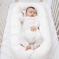 バイオニックベッド 新生児ベッド ポータブルアンチプレッサーベッド 多機能模倣子宮ベッド ベビーベッド (Color : 白, Size : 76 * 46 * 14cm)
